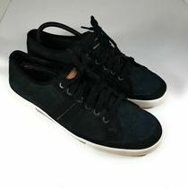 Coach Mens Brad Sneakers Black Signature Logo Lace Up Low Top Shoes 12 M Photo