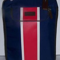 Coach Mens Golf Shoe Bag Navy Red White Varick Nylon Nwt 128 Photo