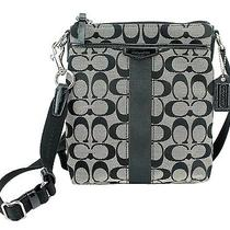 Coach Mens Handbags Black White Black Photo