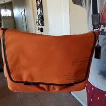 Coach Mens Leather Messenger Bag Photo