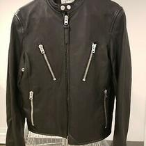 Coach Mens Motorcycle Leather Jacket Size 44 Photo