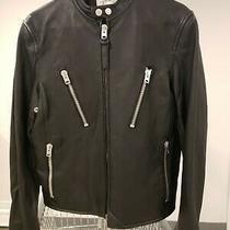 Coach Mens Motorcycle Leather Jacket Size 44 Photo