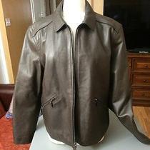 Coach  Mens York Leather Jacket Xl Mahogany Nwt 898 Photo