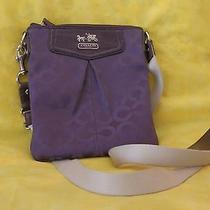 Coach Messenger Bag - Purple Photo