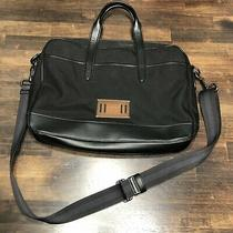 Coach Messenger Crossbody Laptop Bag Black Nylon Leather Photo