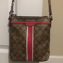 Coach Messenger Crossbody Pink and Brown Photo