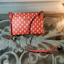 Coach Messenger Crossbody Purse With Rose Print Red/white Photo