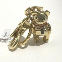Coach Metal 3d Teddy Bear Keychain Charm  Gold  87166  Retail 68.00 Nwt  Photo