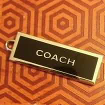 Coach Metal Hangtag. Black Enamel and Silver Toned Metal 100% Authentic Photo