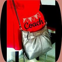Coach Metallic Brown/bronze Crossbody Purse Photo