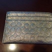 Coach Metallic Credit Card/gift Card Wallet  Photo
