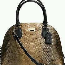 Coach Metallic Croc Tote Handbag Purse Stunning See Matching Wallet in My Other Photo