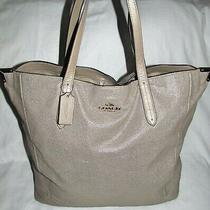 Coach Metallic Gold Embossed Leather Extra Large Xl Tote Shoulder Bag Purse Photo