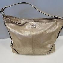 Coach Metallic Gold Shimmer Leather Hobo Bag Photo