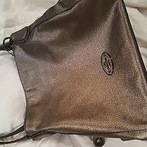 Coach Metallic Gunmetal Pebbled Handbag Photo