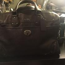 Coach Metallic Leather Rhyder 32 Satchel in Antique Nickel / Bronze 33739 Photo