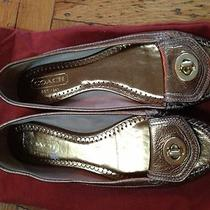 Coach Metallic Loafer Made in Italy Size 6.5 Photo