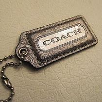 Coach Metallic Metal Color Leather Hang Tag Fob Hangtag  Photo