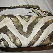 Coach Metallic Zebra Print Converitable Wristlet Purse Photo