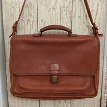Coach Metropolitan Vintage Brown Leather Briefcase Messenger Business Bag 5180  Photo