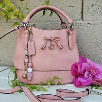 Coach Micro Ally Bucket Crossbody Purse Bag Handbag Satchel F39877 Petal Pink  Photo