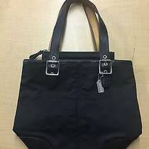 Coach Microfiber Leather Shoulder Bag Photo