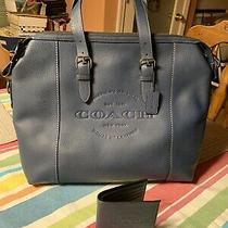 Coach Midnight Navy Hudson Brief 595 Msrp W/tags Photo