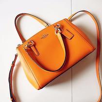 Coach Mini Christie Carryall in Leather Orange Cross Body Bag Photo