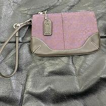 Coach Mini Handbag Coin Purse Small Purse Clutch C Logo Womens Purple Photo