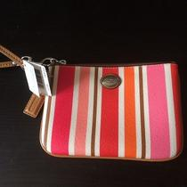 Coach Mini Peyton Multi-Striped Wristlet Photo