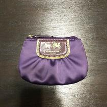 Coach Mini Satin Card Case W/ Keyring Photo