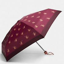 Coach Mini Umbrella in Signature Party Cat Print New With Tags Retired Photo