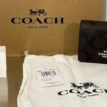 Coach Mini Wallet on a Chain With Signature Print & Duster Nwt Photo