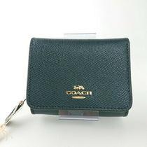 Coach Mini Wallet Tri-Fold Coin Dark Blue Navy 05r2157 Photo