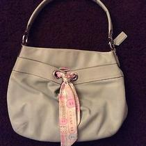 Coach Mint Green Shoulder Bag Small Tote Leather Photo