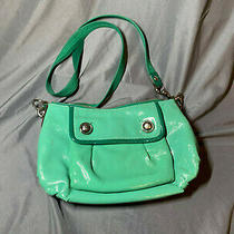 Coach Mint Poppy Green Small Patent Leather Pop Shoulder Bag Handbag C0973-13852 Photo