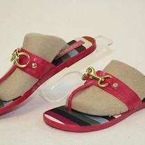 Coach Mismatch 6 / 6.5 Womens New Rikki T-Strap Sandals Flip Flops Shoes Cm Photo