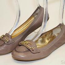 Coach Mismatch 7.5 / 7 Womens New Denise Beige Leather Ballet Flats Shoes Cv Photo