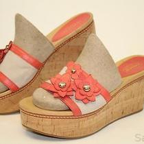 Coach Mismatch 7.5 / 7 Womens New Jesaca Leather Slides Sandals Wedges Shoes Cf Photo