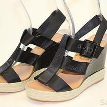 Coach Mismatch 9.5 / 9 Womens New Maryanne Sandals Wedges Heels Shoes Wz Photo