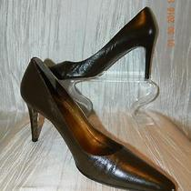 Coach Misty Brown Leather Pointed Toe Pumps Heels Shoes 9.5b Gruc Restored 198 Photo