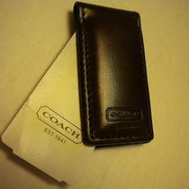 Coach  Money Clip Mahogny Leather Nwt Photo