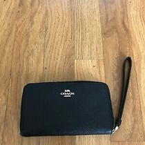 Coach Money Purse Wristlet Travel Iphone/documents/cards Holder Ziparound Wallet Photo
