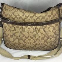 Coach Monogram Brown Leather Diaper Bag Purse Unisex Photo