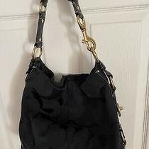Coach Monogrammed Purse Shoulder Bag. Black Excellent Condition Photo