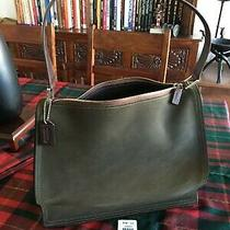 Coach Monterey Suede Leather Hobo Tote Purse Bag Olive Green Mahogany 6144 Rare Photo