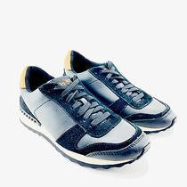 Coach Moonlight Sneakers Black Tan Suede Leather Sz 7 Women Shoes Photo