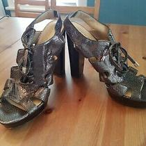 Coach Moreen Leather Sandals Size 11 High Heels Sexy Photo
