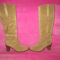Coach 'Morgann' Camel Suede Boot Size 8 Originally 458 Photo
