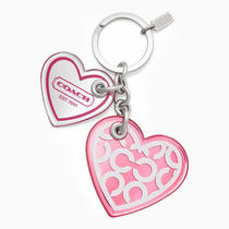 Coach Multi Heart Key Ring Style F64300 Sv/multicolor Photo